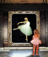 LITTLE GIRL LOOING INTO MIRROR
