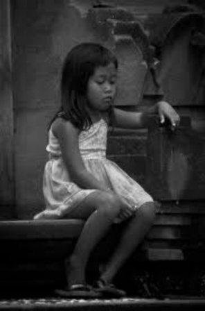 trafficked depressed little girl