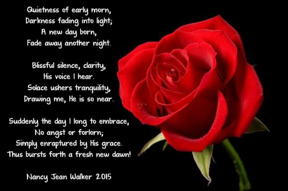 poem a new dawn rose