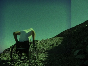 wheelchair climb mountain